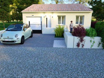 Villa de 87m² de plain-pied 3 chambres + gara...