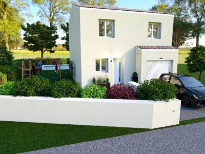 Villa étage de 86m² 3 chambres + garage 11200...