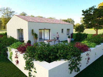 Villa de plain-pied de 75m² 2 chambres + gara...