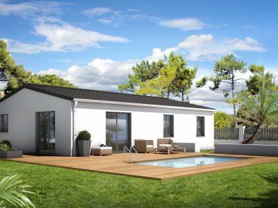 Ref:9088 - Sérignan/ maison de plain pied 85 m2/ terrain...