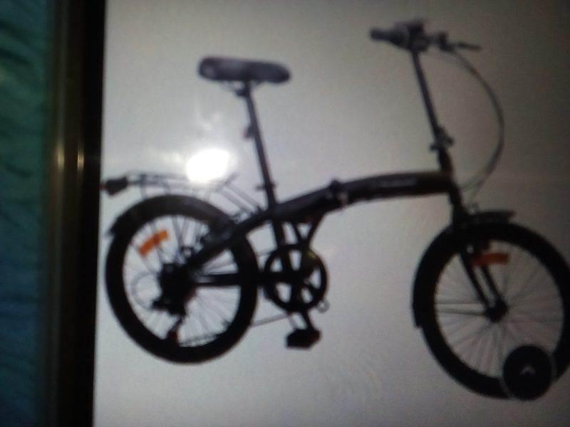 Vélo pliant adulte MERCIER, TOUT ALU AVEC 6 VITESSES INDEXÉES SHIMANO