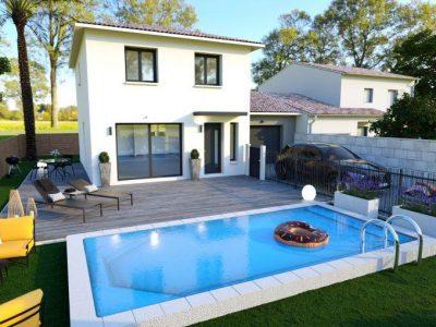 Ref:9301 - Villa 4 pièces contemporaine sur terrain de 3...